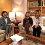 Laura Oliver y Dolors Montserrat se comprometen a trabajar juntos para lograr un pacto de estado contra la violencia