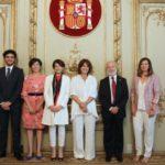 Juan Carlos Estévez y Javier Sánchez García asisten a la a toma de posesión de los nuevos altos cargos del Ministerio de Justicia