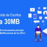 LexNET amplía su capacidad de subida de archivos a 30MB por Escrito